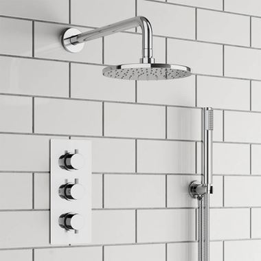 Harper Concealed Shower Valve, Fixed Shower Head & Handset